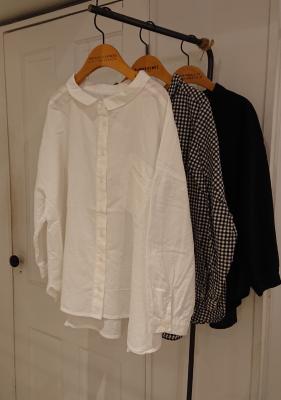 涼しげなオックスシャツのご紹介です。/mumokuteki goods&weres 京都店