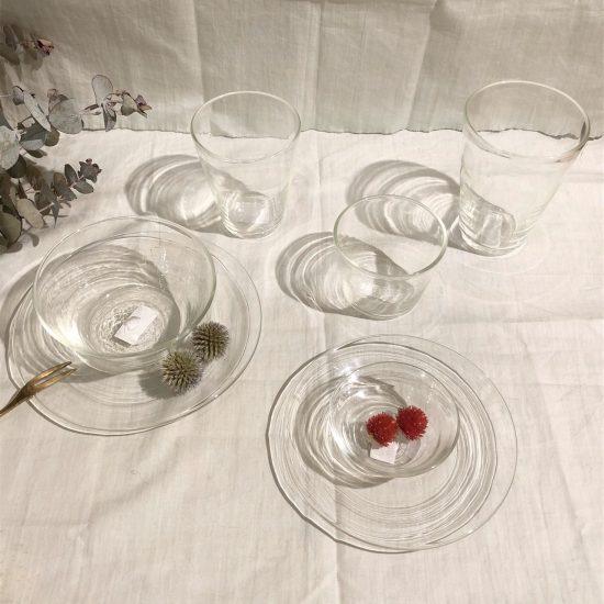 晴耕社ガラス工房 吹き屋さんのガラス食器のご紹介です。